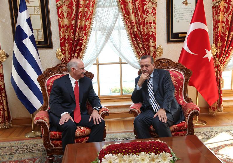 Συνάντηση Γιώργου Α. Παπανδρέου με τον πρωθυπουργό της Τουρκίας Recep Tayyip Erdogan