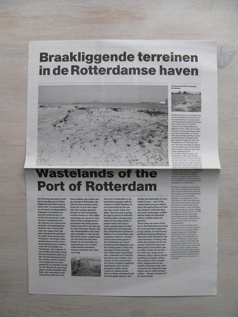 Portscapes_Lara Almarcegui newspaper launch and tour of wastelands in the Port of Rotterdam