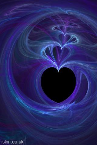 Iphone Wallpaper Fractal Love Hearts Iphone Wallpaper 320
