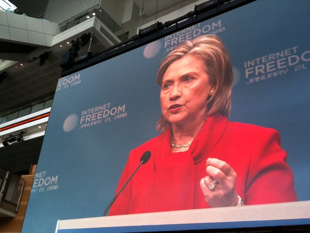 Secretary Clinton Delivers Remarks on Internet Freedom
