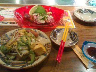 Goat flesh sashimi and goya champuru | by _Yuki_K_