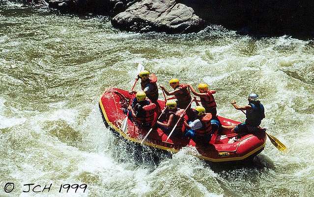 Rafters Down the Arkansas River