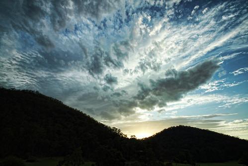 splattering of cloud.