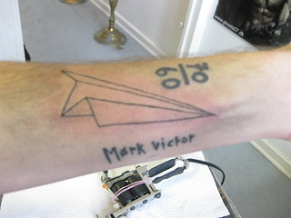 Paper Airplane Tattoo After A While I Started Again This Flickr