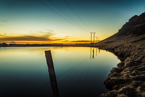 sunset iceland dusk southiceland holtsós