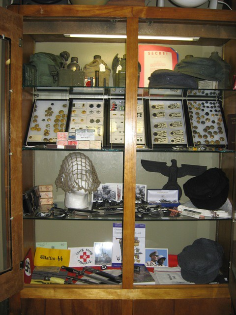 WWII US and Nazi army medals, pins, patches and Nazi badge