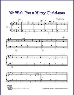 We Wish You A Merry Christmas Piano.We Wish You A Merry Christmas Sheet Music For Easy Piano