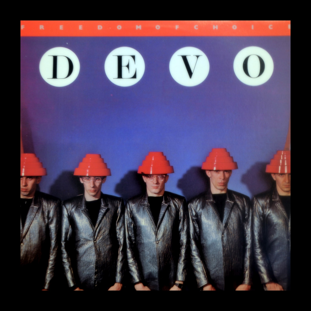 Devo Album Cover Freedom Of Choice I Was Cleaning Out