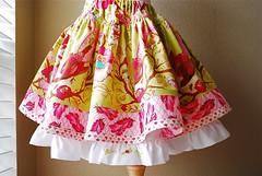 My Edith Twirl Skirt with Tula Pink's Plume | by JonaG