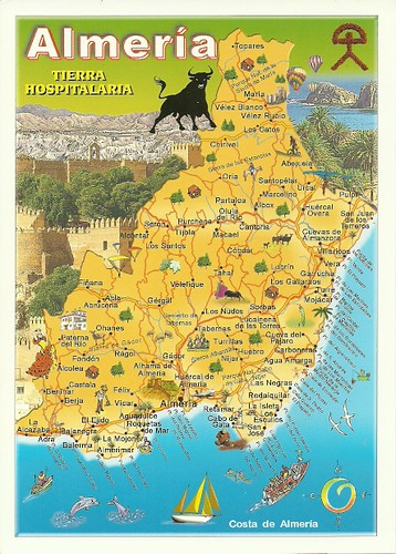 Map Of Spain Almeria.Spain Almeria Map Received From Nhigh Private Trade Amanda T