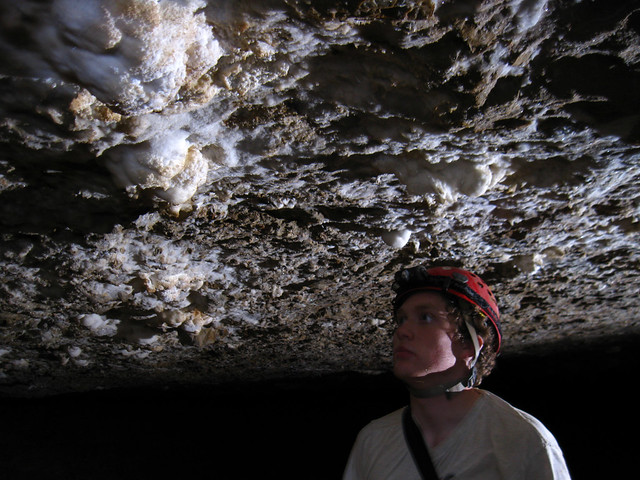 Matt Elmore and Gypsum Snowballs, Blue Spring Cave, White Co, TN