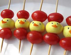 Mini-Mozzarella Chicks & Cherry Tomato Skewers
