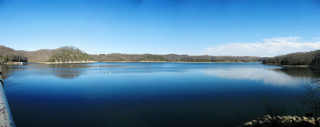 Looking from East Side of Dale Hollow Dam across Dale Hollow Lake, Clay Co, TN