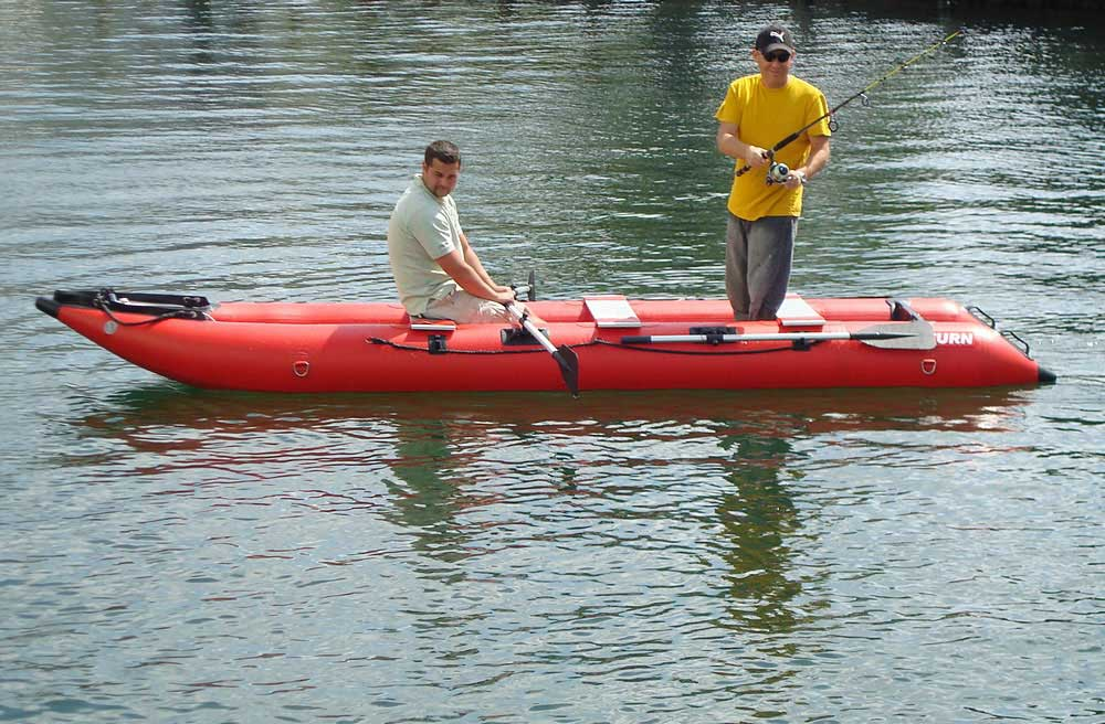 Saturn Inflatable Crossover Kayak + Boat = KaBoat - a photo