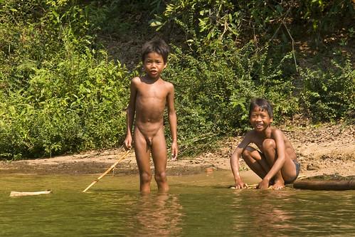 Boys on river
