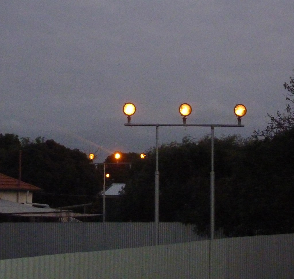 Adelaide Airport Runway Approach Lights at Dusk | Chris