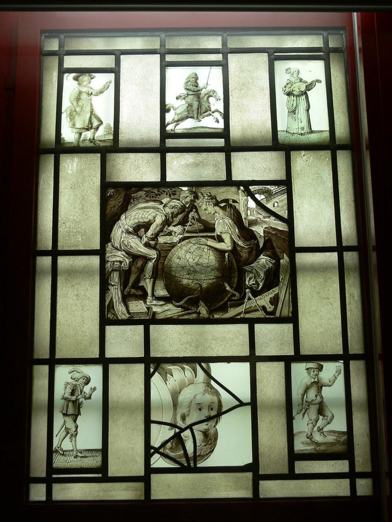 Antique frans glasraam