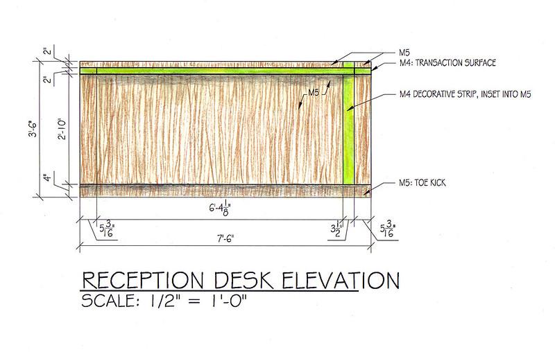 Reception Desk Elevation
