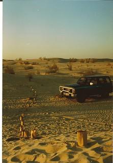 Desert picnic near Abu Dhabi