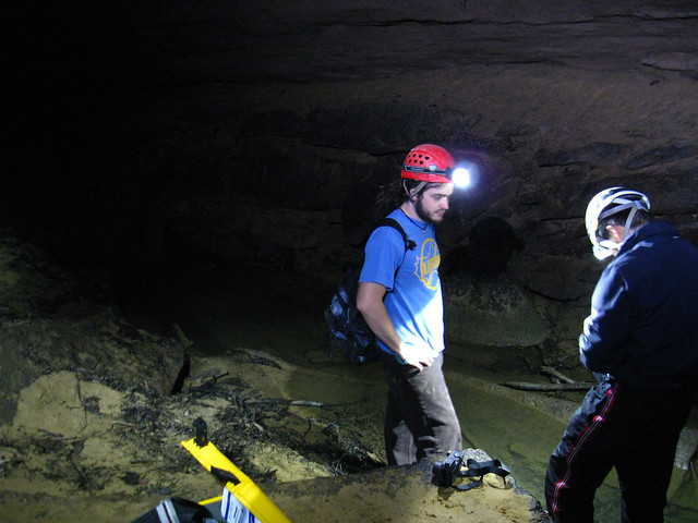 Mark Senne and Dr. Peter Li, Indian Cave, Cookeville, TN