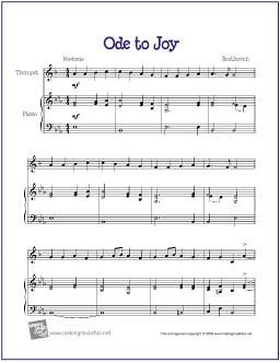 Ode to Joy (Beethoven) | Free Beginner Trumpet Sheet Music… | Flickr