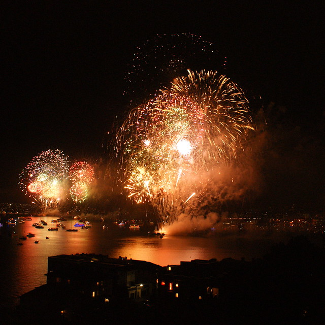 Fireworks across the Harbour