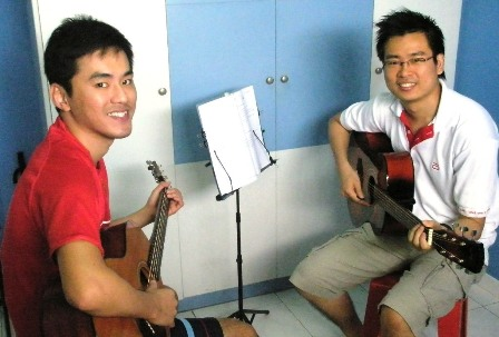 Private guitar lessons Singapore Zhiyong