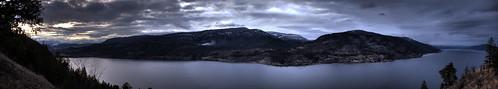 panorama britishcolumbia large valley hdr highdynamicrange lakeokanagan knoxmountain okakagan