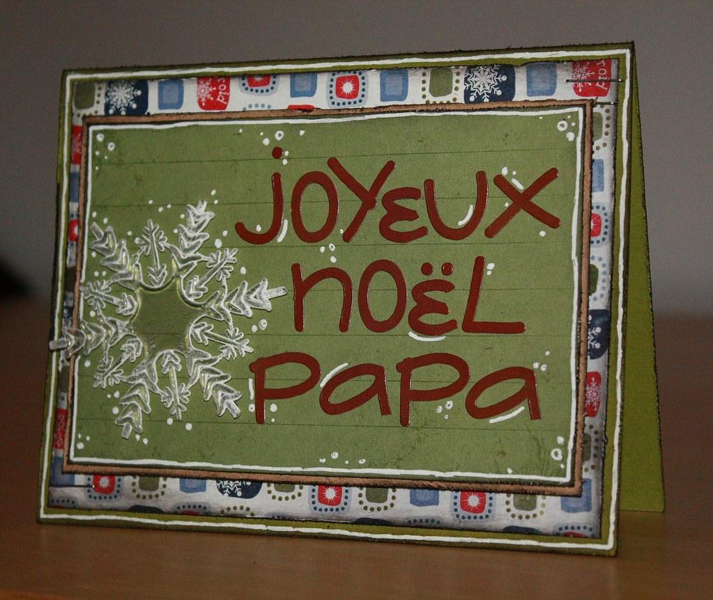 Papa /& Partner Carte de Noël Pour une Spéciale Papa /& Partner Joyeux Noël.