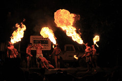 Borneo fire Eaters @ Night Safari