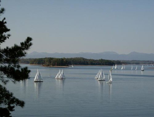 Sail Boats on Lake Keowee
