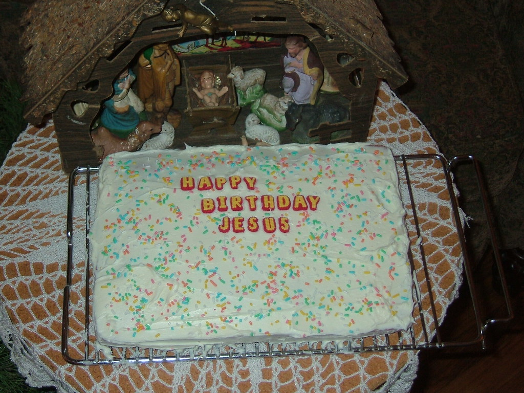 Groovy Jesus Birthday Cake We Didnt Have His Party Until Kieran Flickr Personalised Birthday Cards Veneteletsinfo