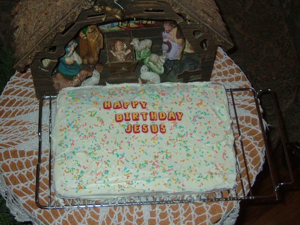 Incredible Jesus Birthday Cake We Didnt Have His Party Until Kieran Flickr Personalised Birthday Cards Rectzonderlifede