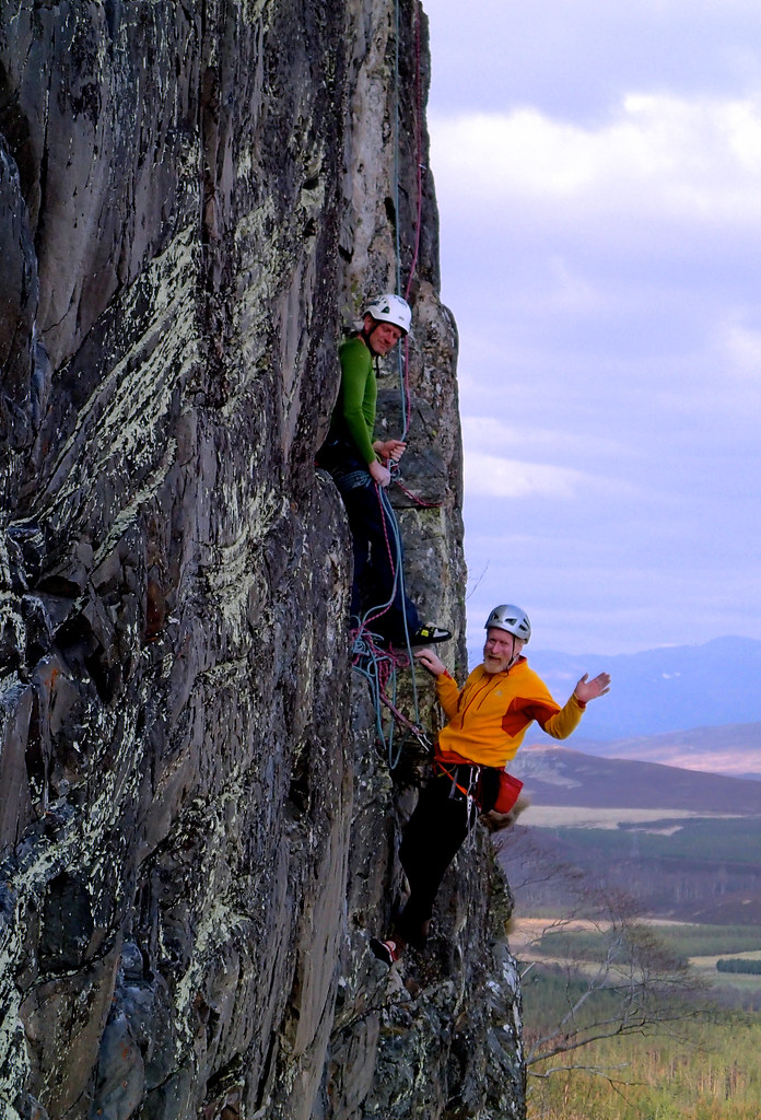 Tue, 2015-04-21 18:07 - Steve Perry and Andy Nisbet on Strapadicktaemi in Creag Dubh.