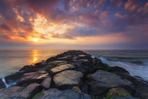 seascape beach clouds sunrise canon landscape jersey jerseyshore landscapephotography avonbythesea