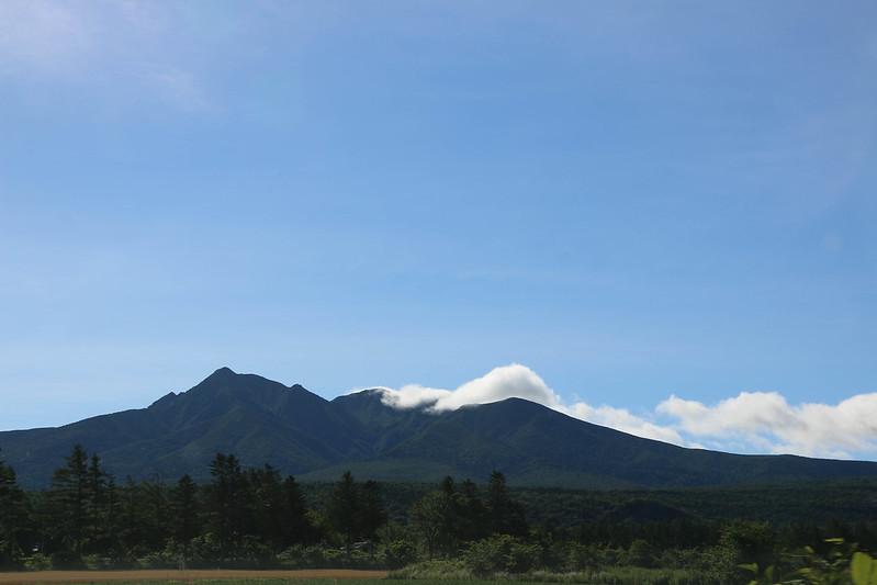 斜里町から見る斜里岳