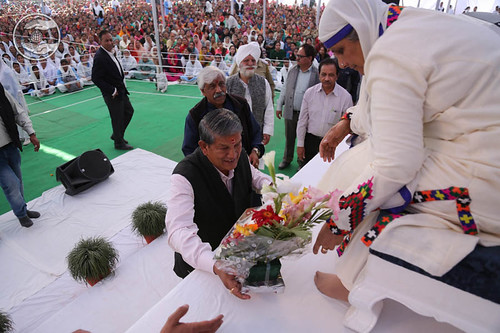 Welcome by Chief Minister Uttarakhand, Harish Rawat
