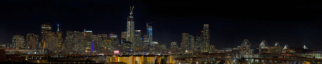 San Francisco holiday skyline: 121 Megapixels!