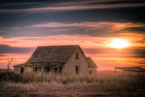 fargo oklahoma unitedstates hdr tones purple sunsets abandoned decay farm building landscape nature sony a99