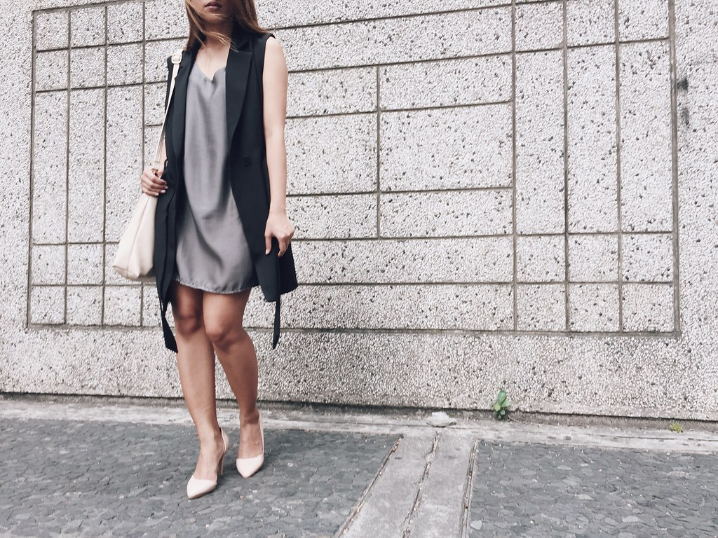 SLIP INTO SLIP DRESS