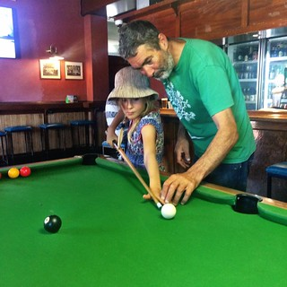 Commercial Hotel. Cygnet. Zoe getting schooled in pool. | by miaow