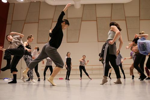 Kaufman students during Scott & Keller rehearsal