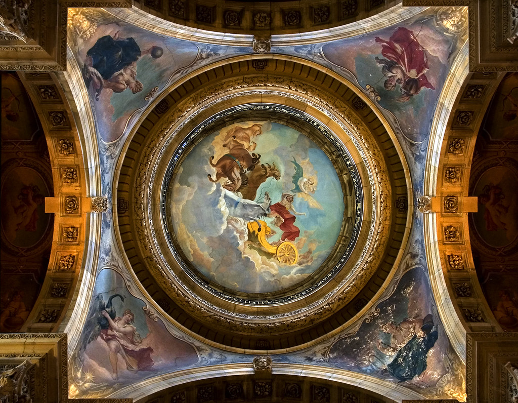 The dome above the great hall - in close up - Castle Howard, England