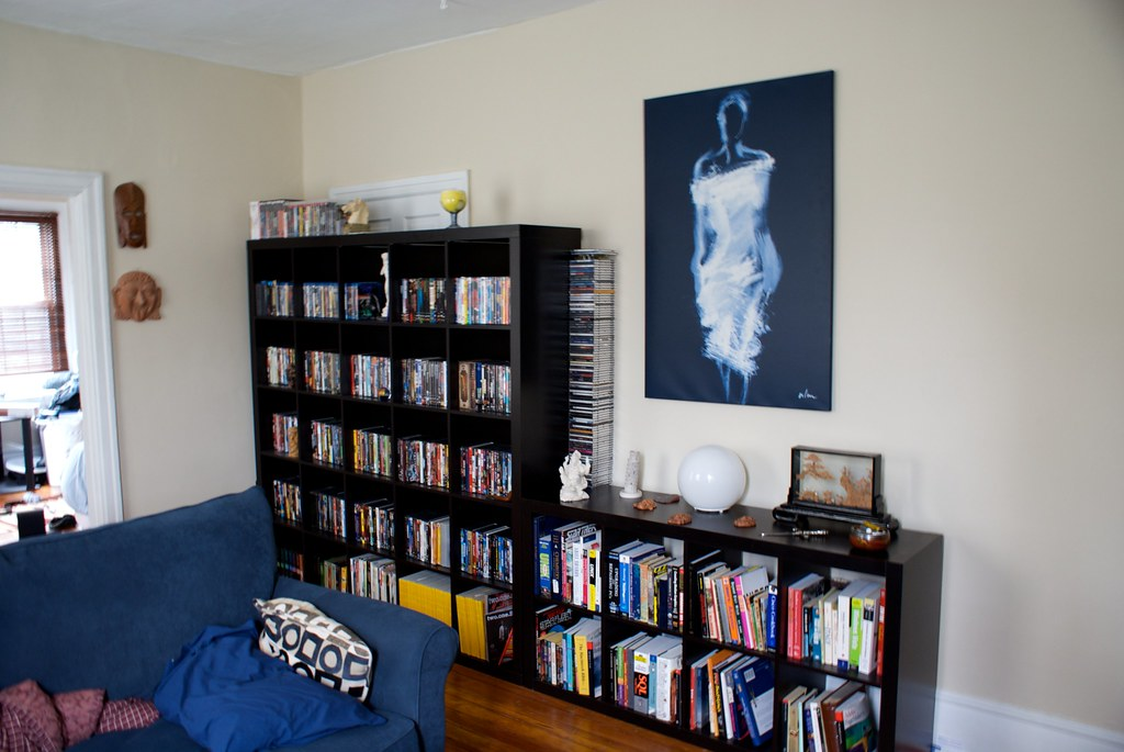 Living Room Remodel: The Media Wall | These Were Already In ...
