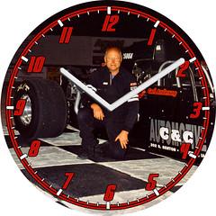 Carl's Dragster Racing C&C Automotive Clock | by customclockface