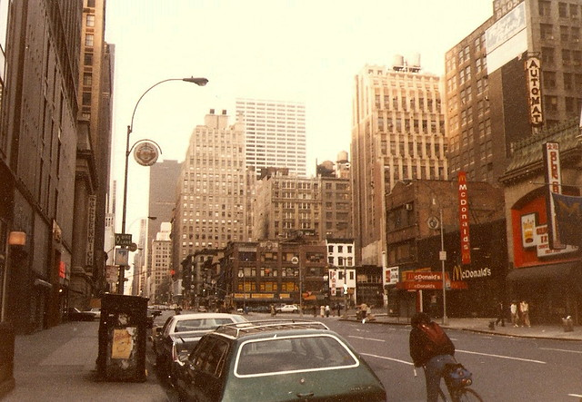 Looking north along 6th Avenue from the corner of 35th Street.