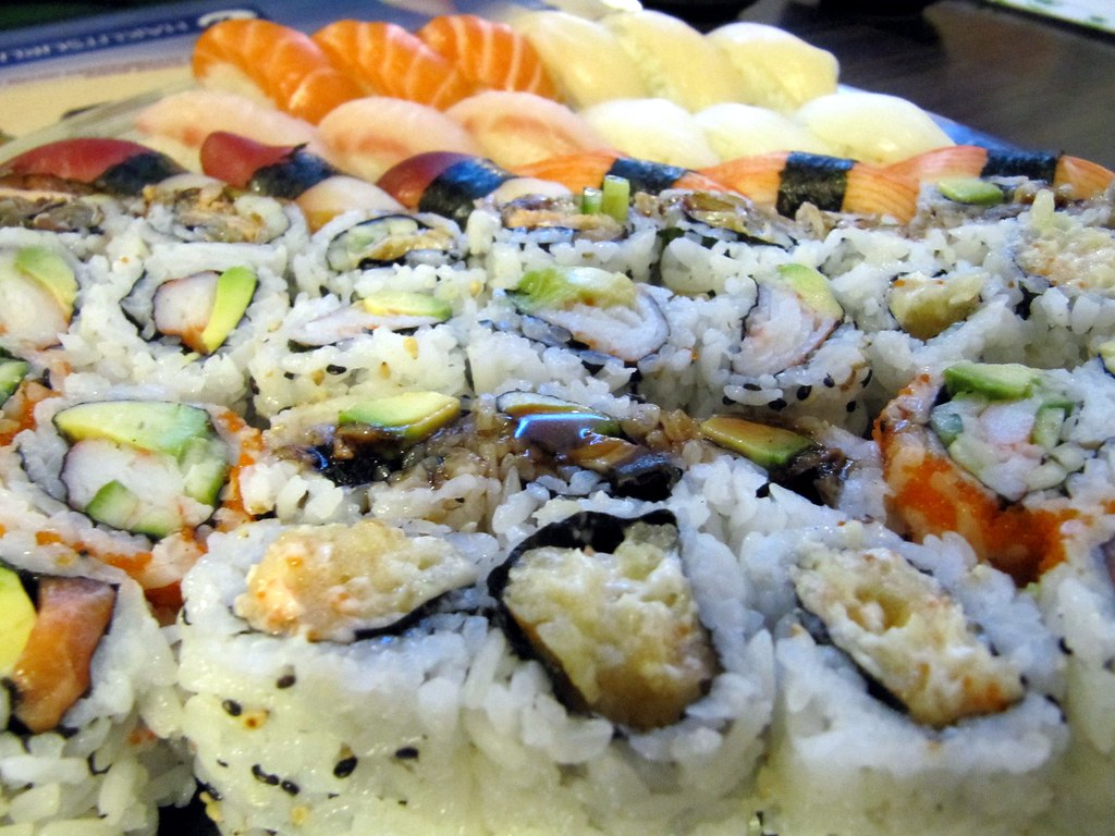 Sushi as far as the eye can see