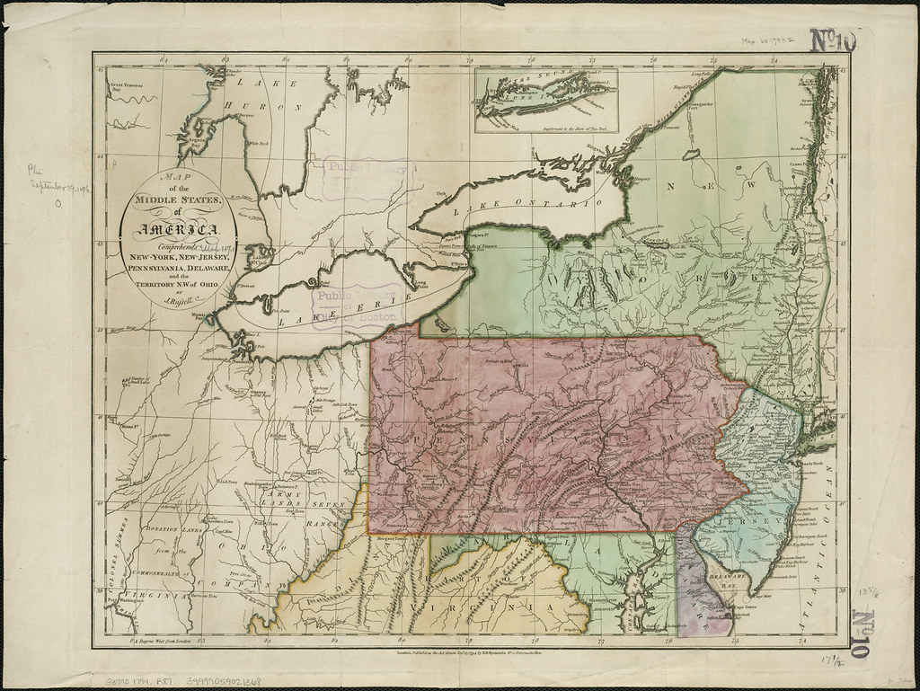 Map Of New York And Ohio.Map Of The Middle States Of America Comprehends New York Flickr