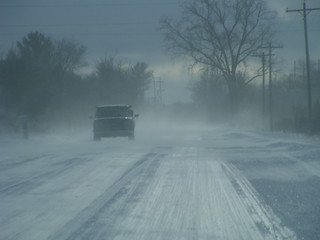 Cold, blowing, winter roads | by mikemol