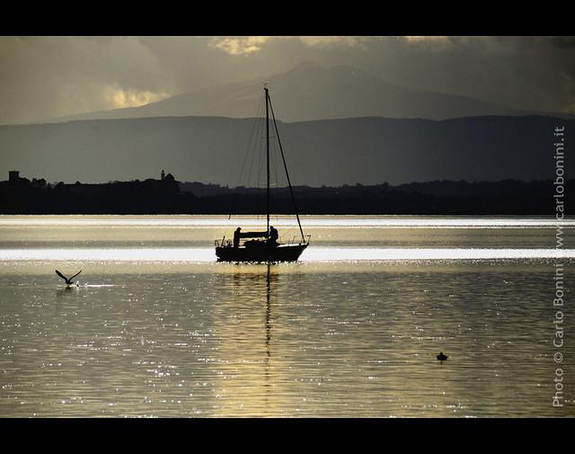 Lago Trasimeno at dusk